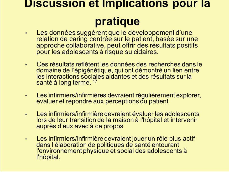Discussion et Implications pour la pratique