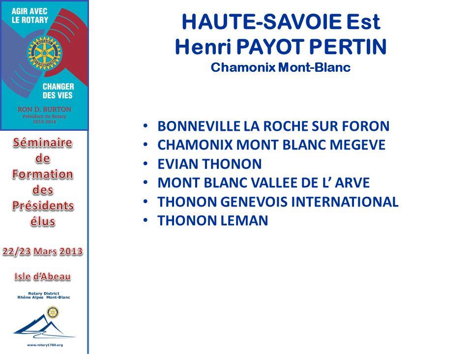 HAUTE-SAVOIE Est Henri PAYOT PERTIN