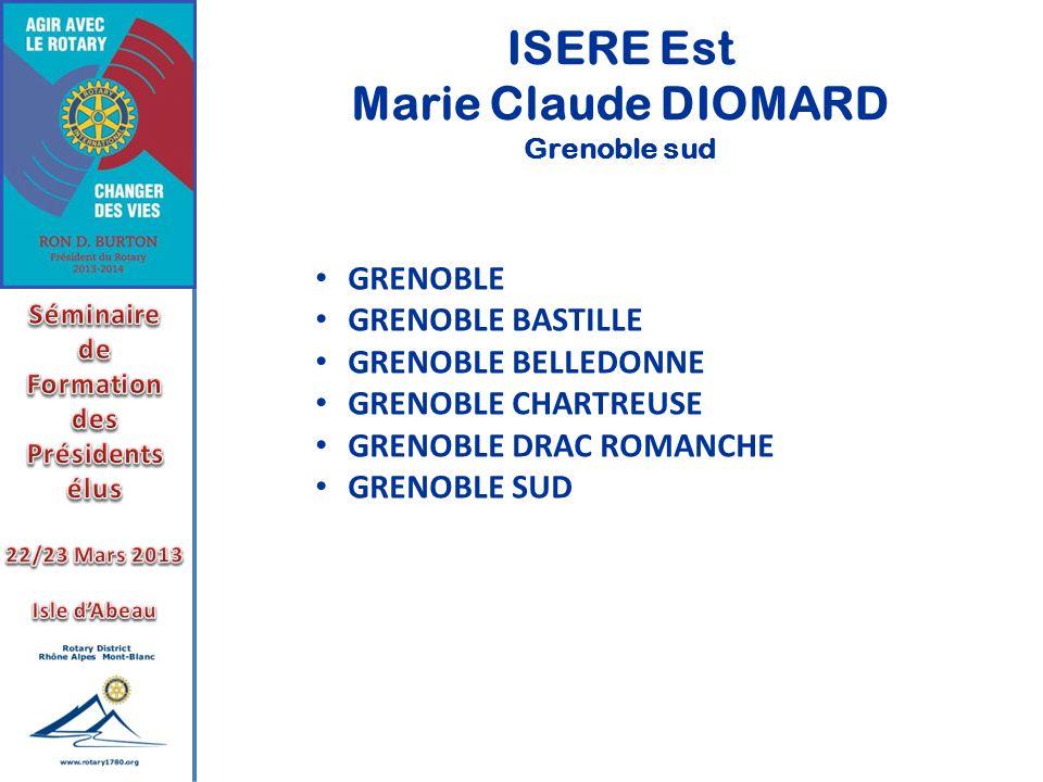 ISERE Est Marie Claude DIOMARD