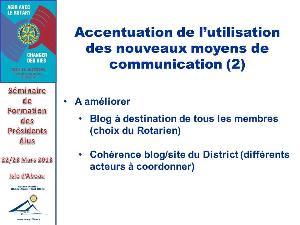Accentuation de l'utilisation des nouveaux moyens de communication (2)