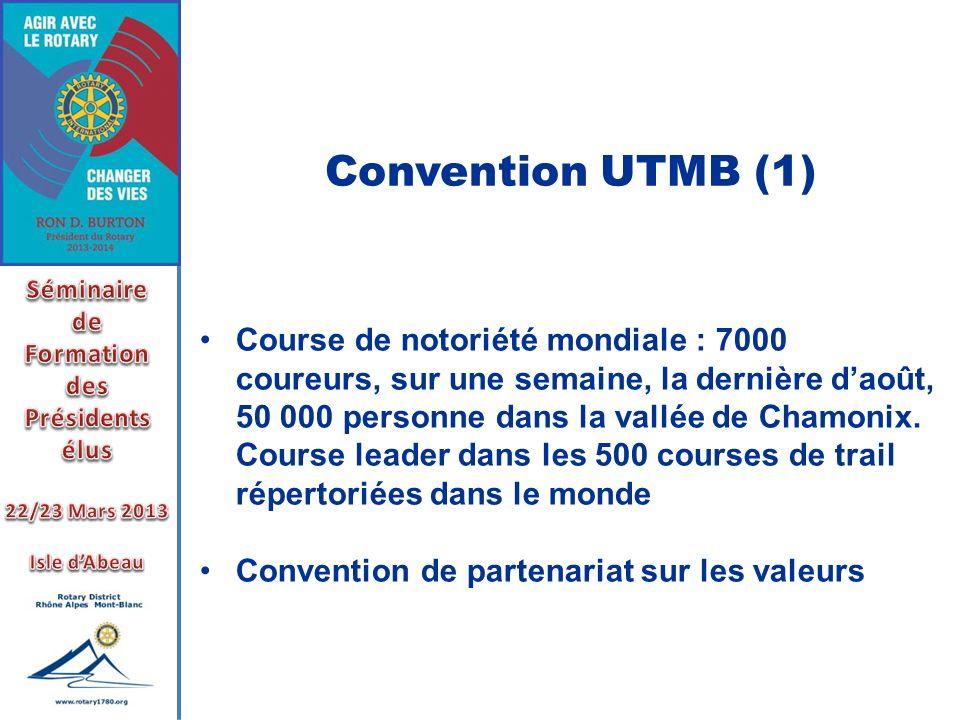 Convention UTMB (1) Séminaire. de. Formation. des. Présidents élus. 22/23 Mars 2013. Isle d'Abeau.