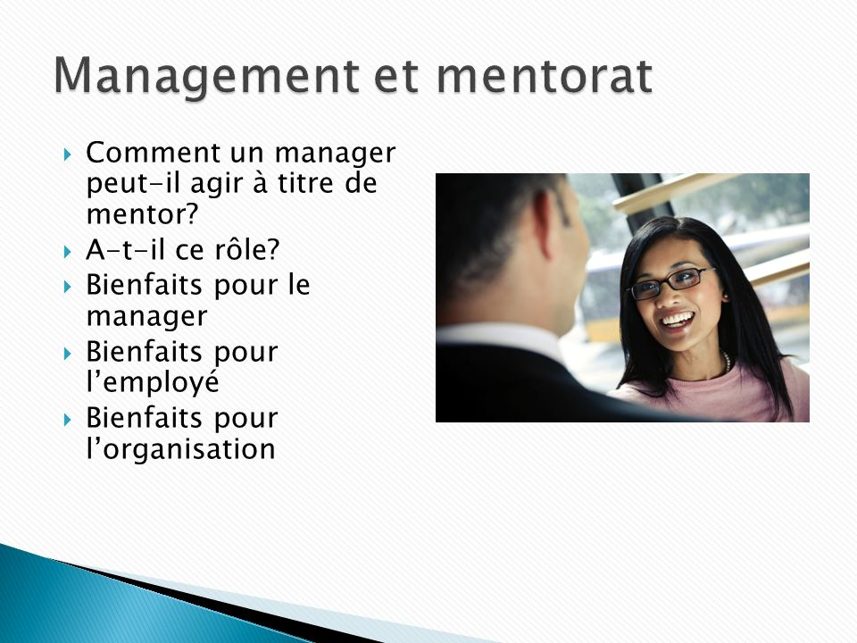 Management et mentorat