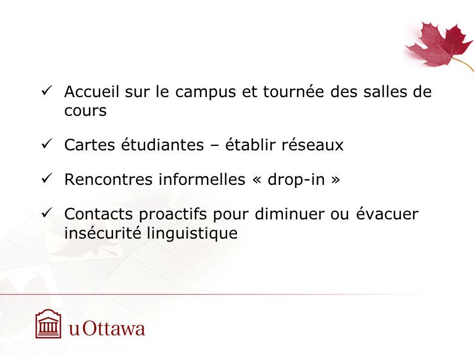 Accueil sur le campus et tournée des salles de cours