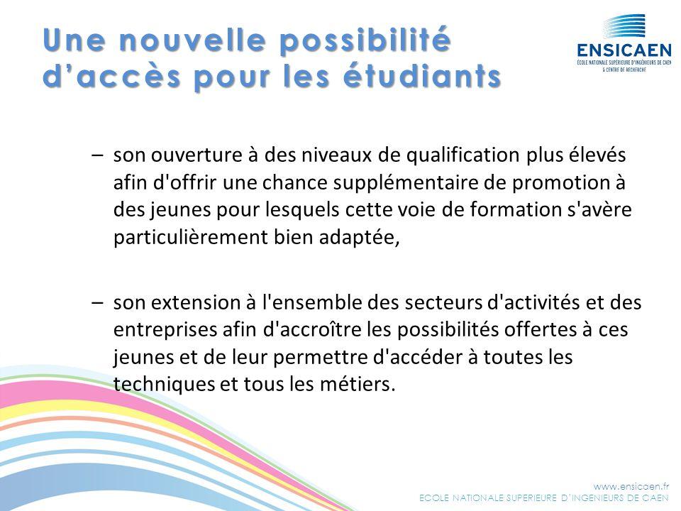 Une nouvelle possibilité d'accès pour les étudiants