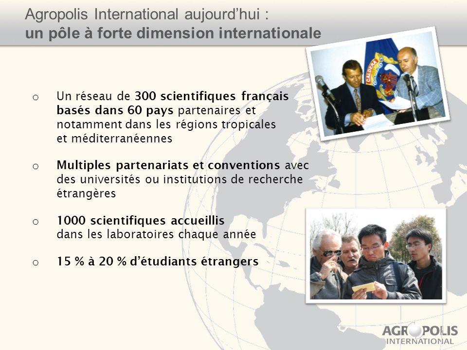 Agropolis International aujourd'hui : un pôle à forte dimension internationale