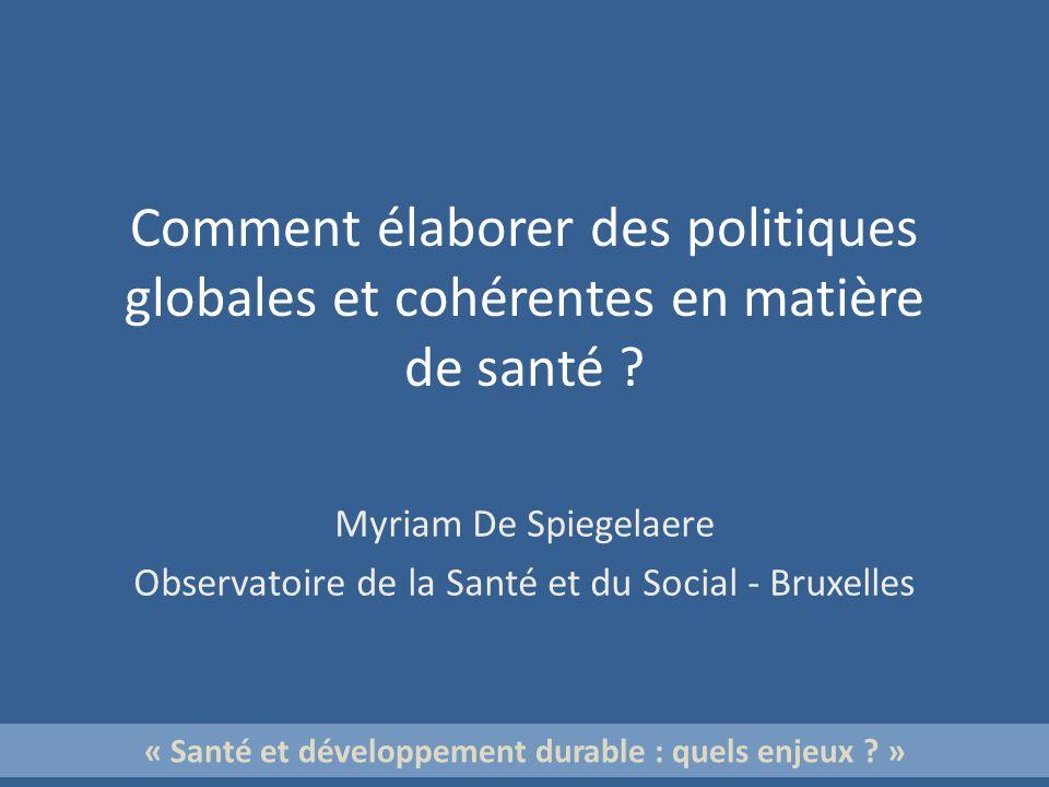 « Santé et développement durable : quels enjeux »