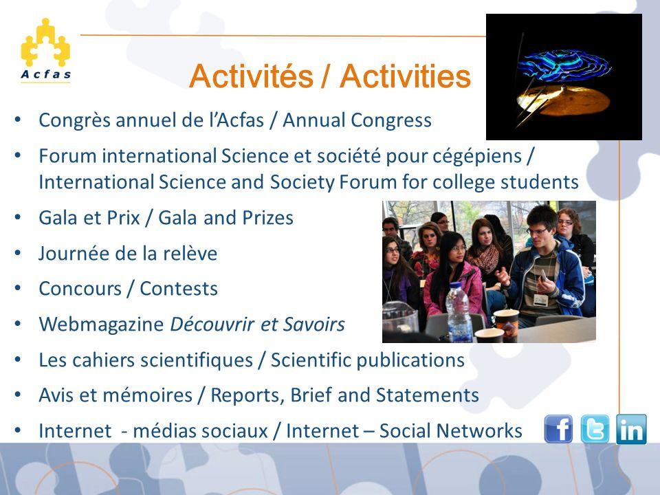 Activités / Activities