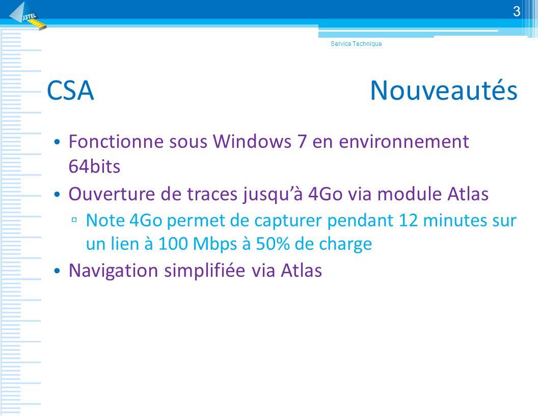 CSA Nouveautés Fonctionne sous Windows 7 en environnement 64bits