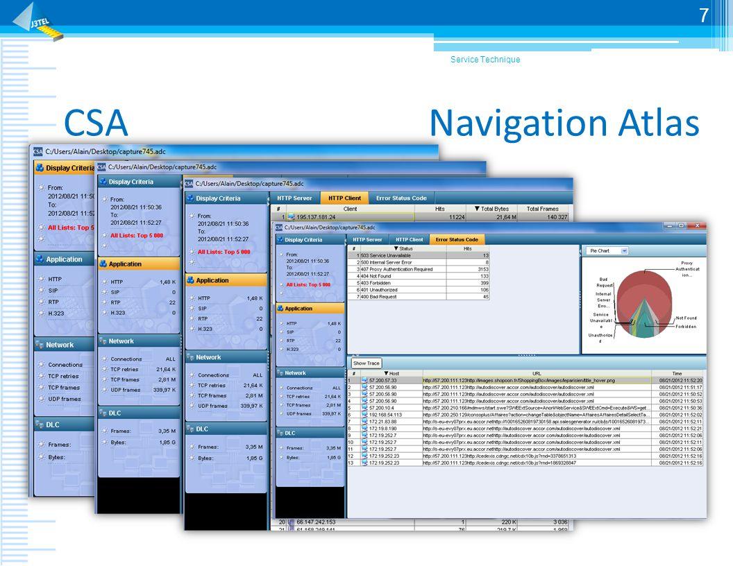 Service Technique CSA Navigation Atlas