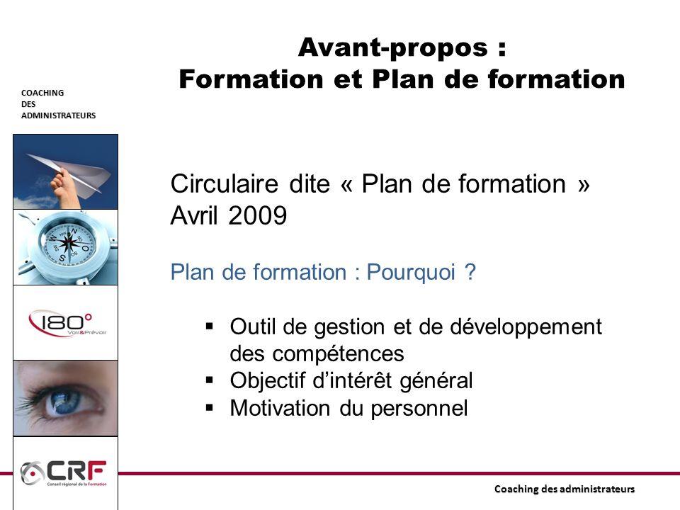 Avant-propos : Formation et Plan de formation