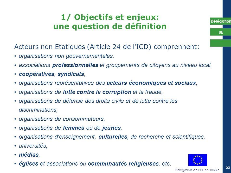 1/ Objectifs et enjeux: une question de définition