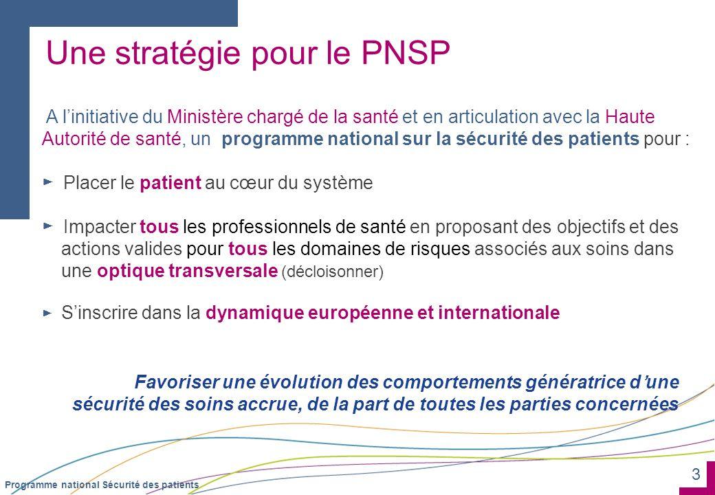 Une stratégie pour le PNSP