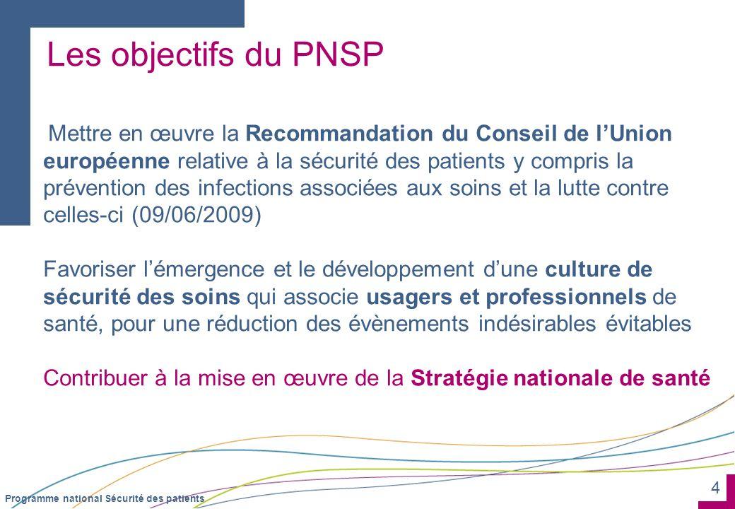 Les objectifs du PNSP