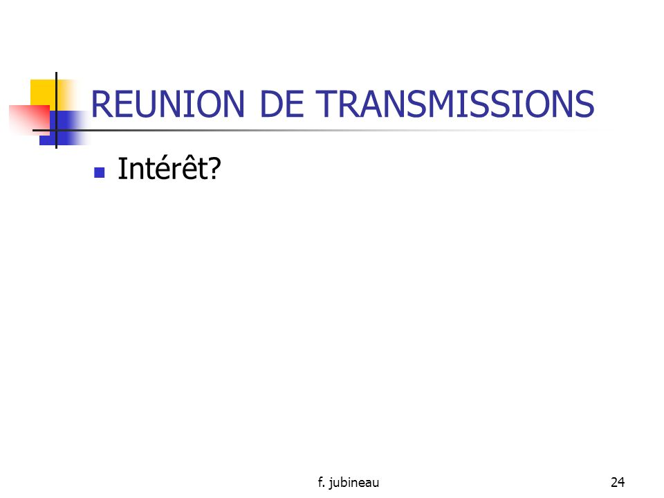 REUNION DE TRANSMISSIONS