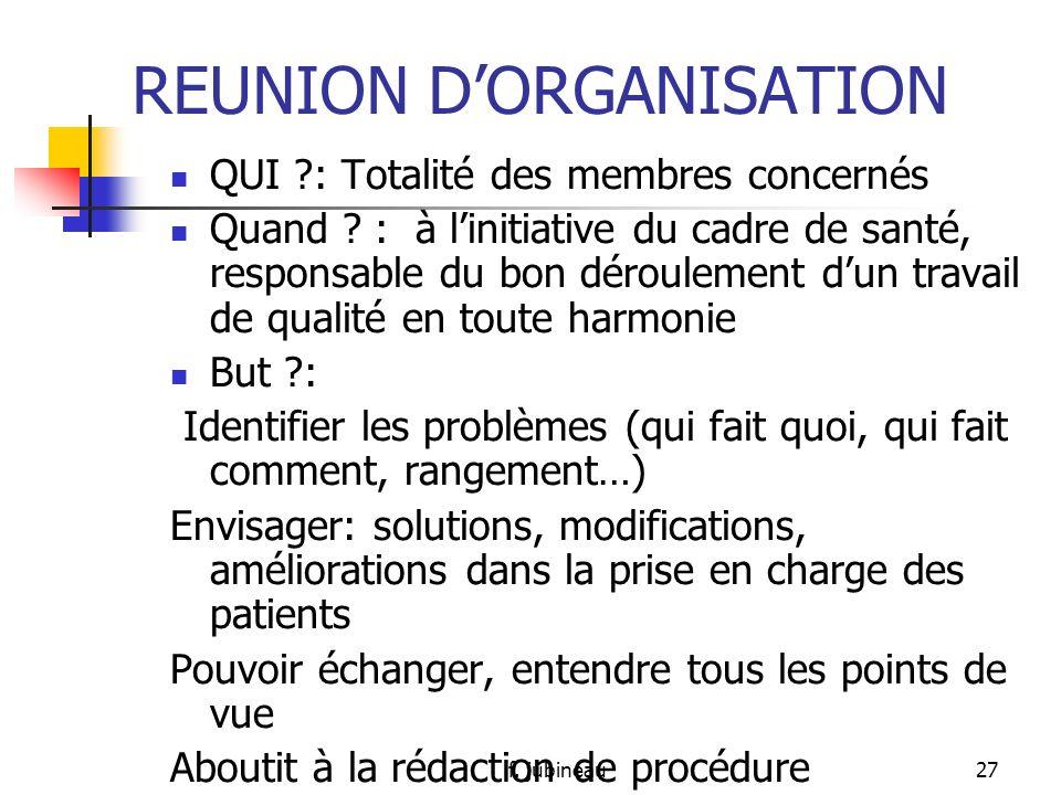 REUNION D'ORGANISATION