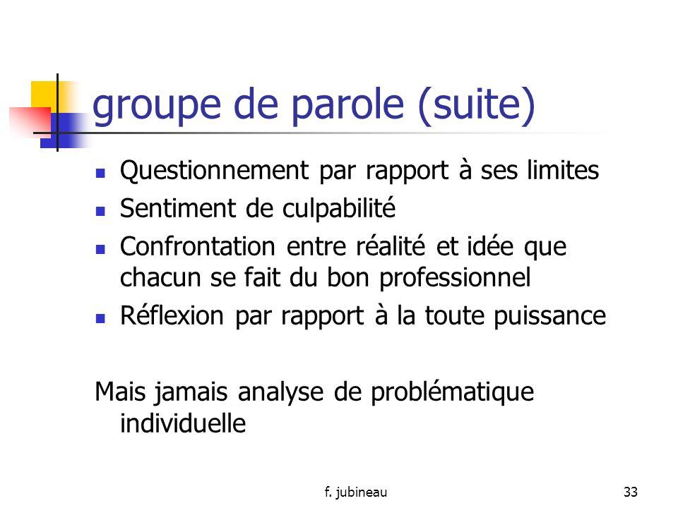 groupe de parole (suite)