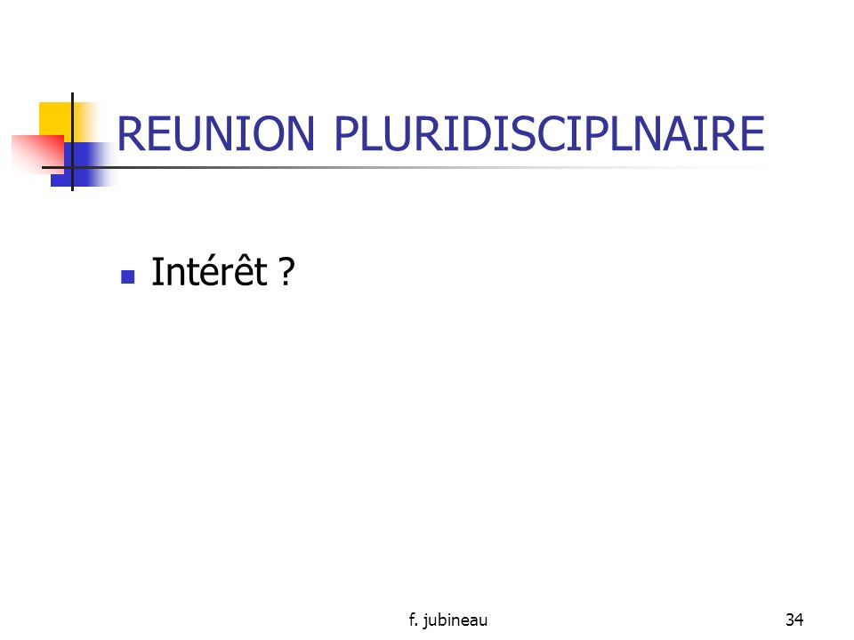 REUNION PLURIDISCIPLNAIRE