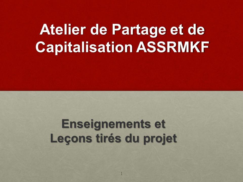 Atelier de Partage et de Capitalisation ASSRMKF
