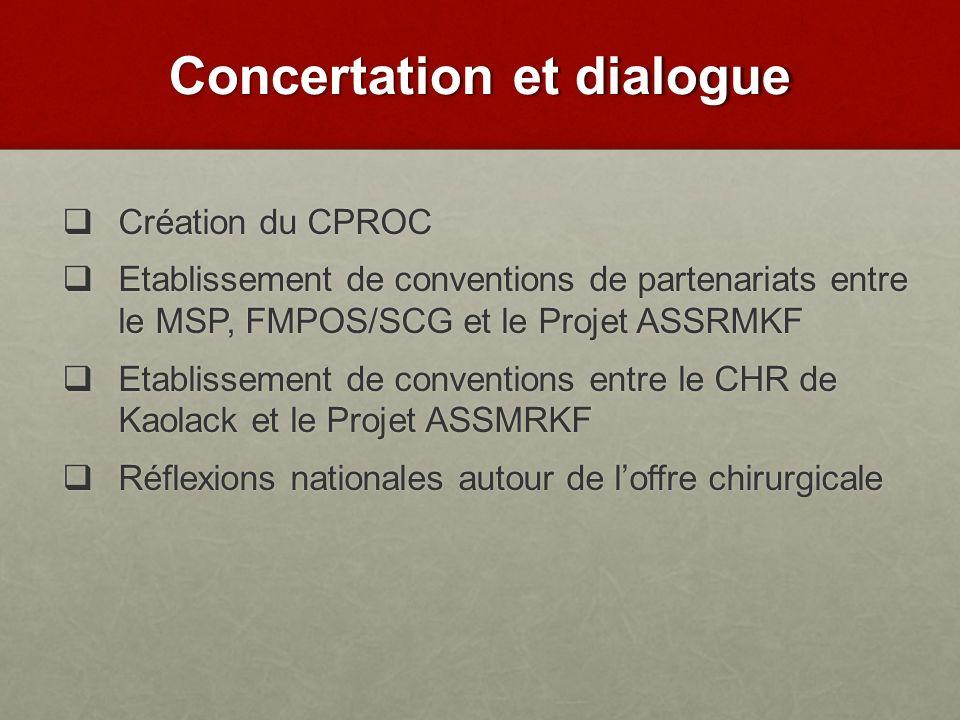 Concertation et dialogue