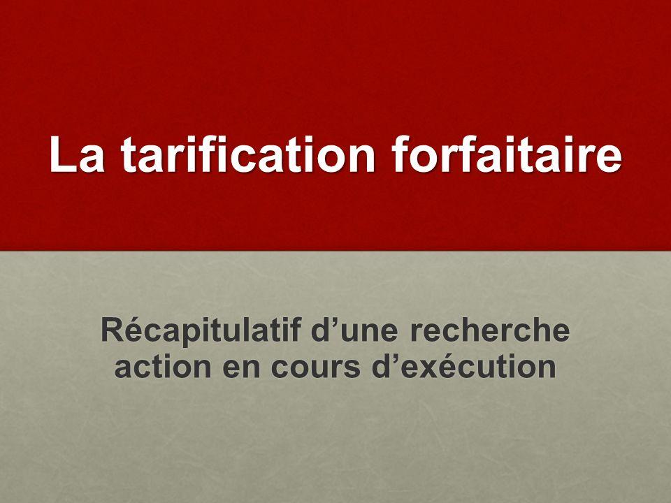 La tarification forfaitaire