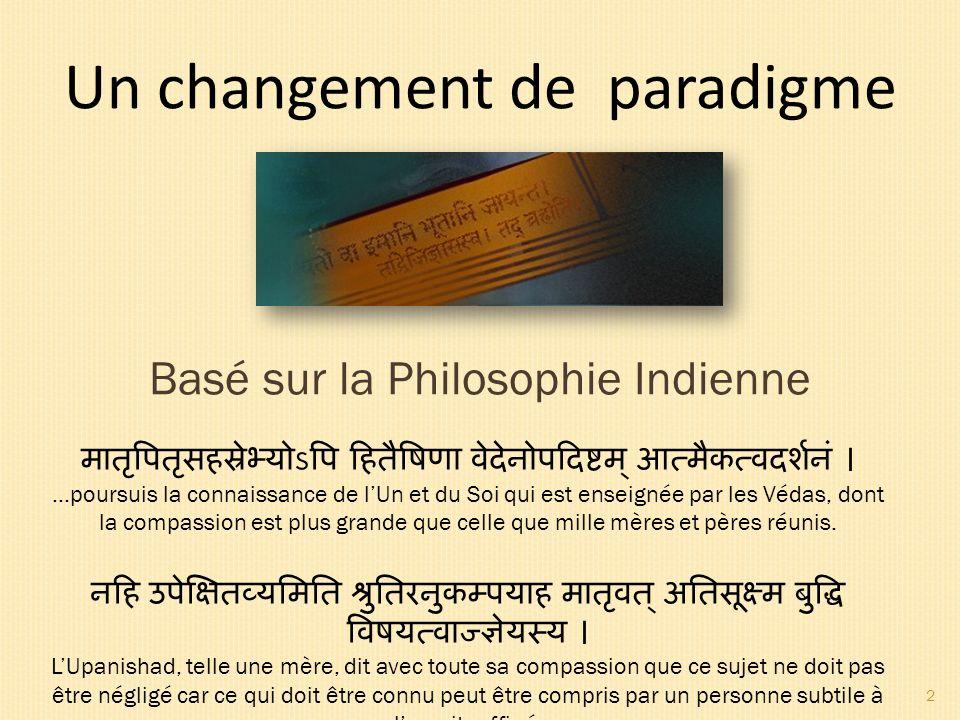 Un changement de paradigme
