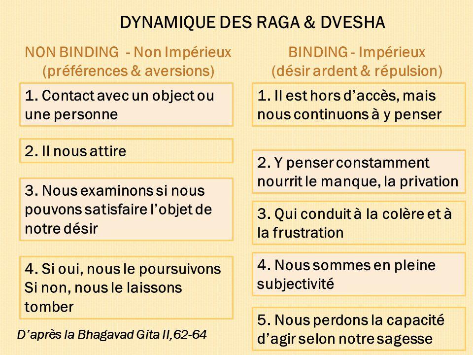 DYNAMIQUE DES RAGA & DVESHA