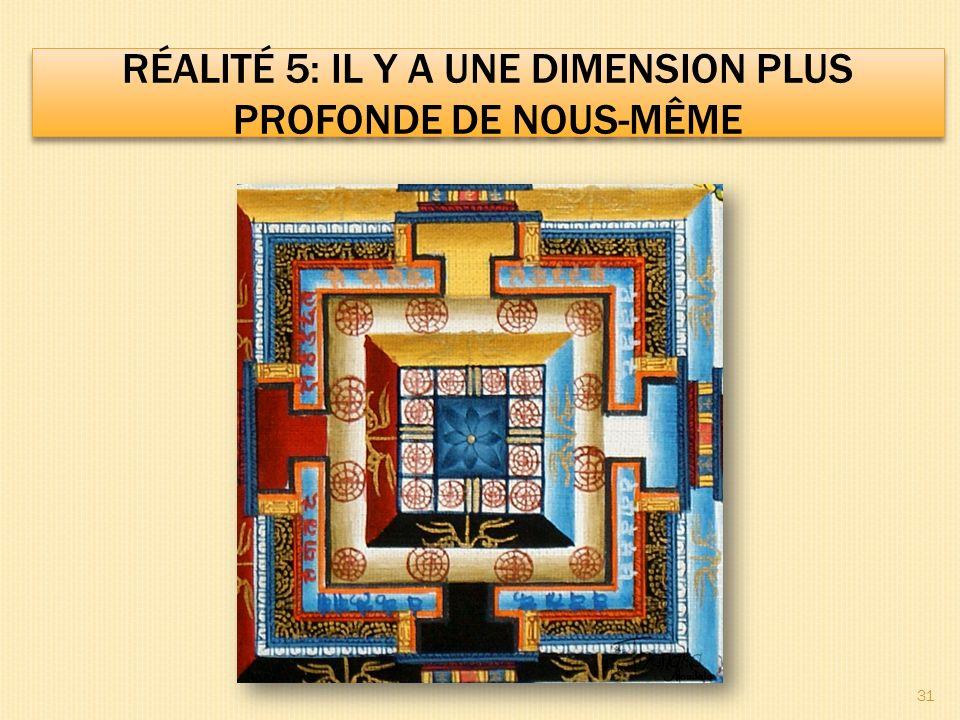 Réalité 5: il y a une dimension plus profonde de nous-même
