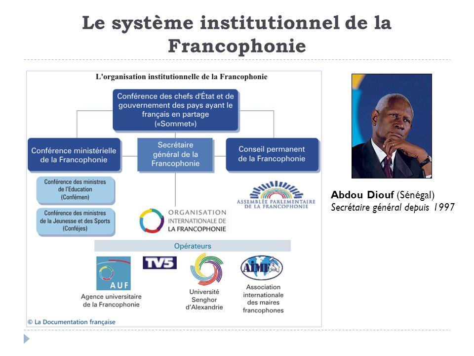 Le système institutionnel de la Francophonie