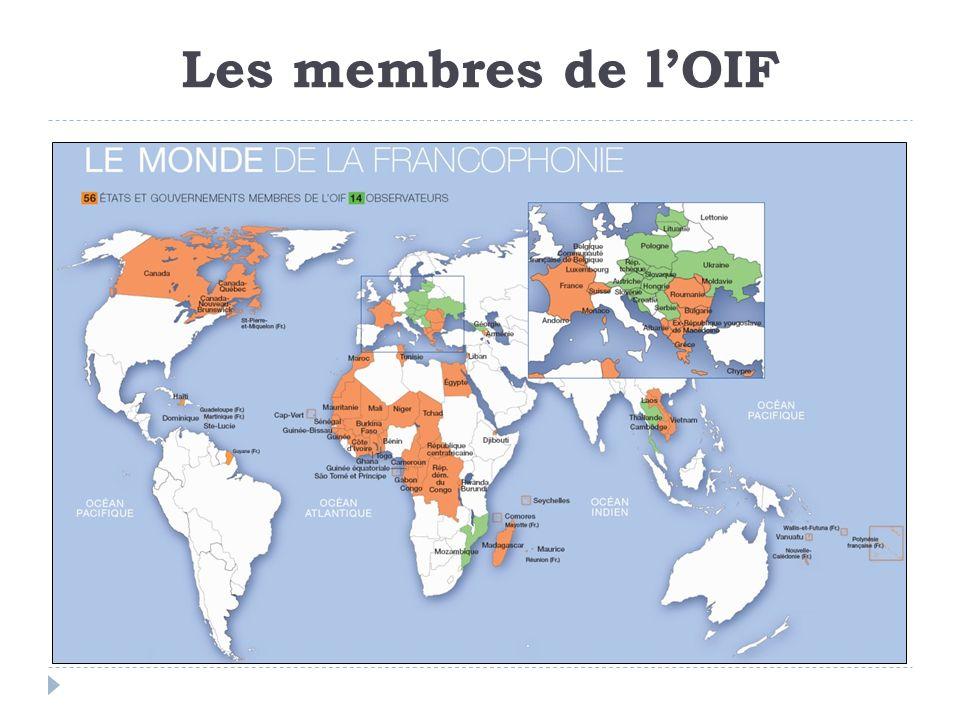 Les membres de l'OIF