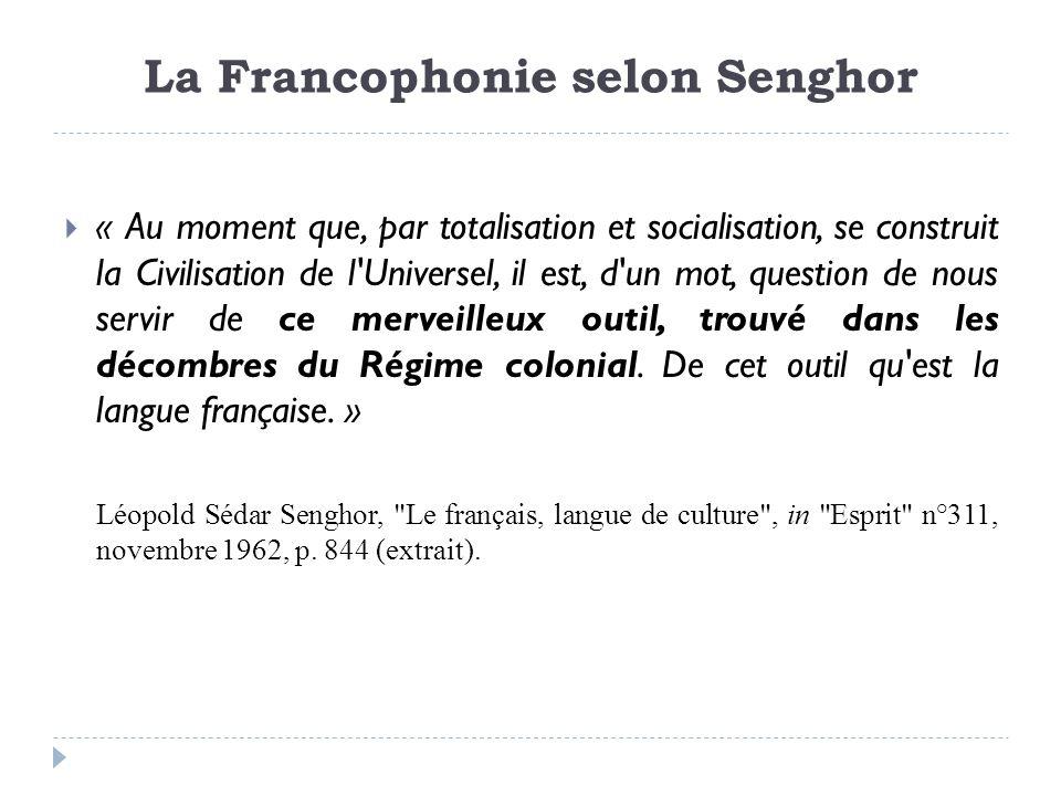 La Francophonie selon Senghor