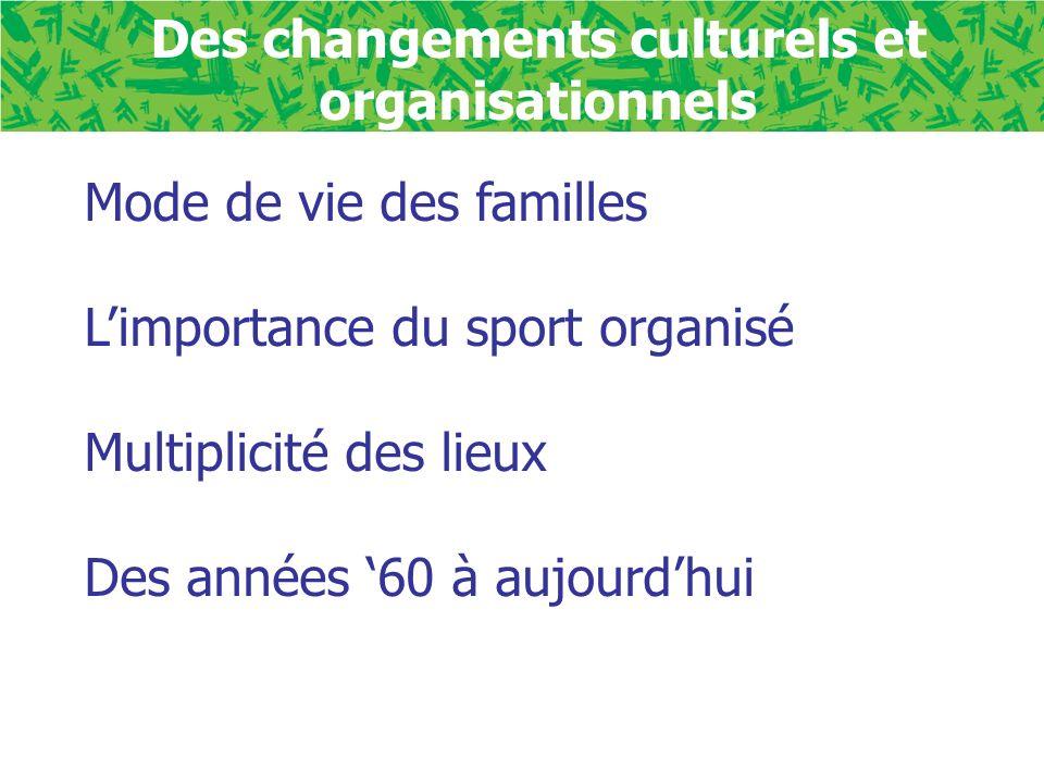 Des changements culturels et organisationnels