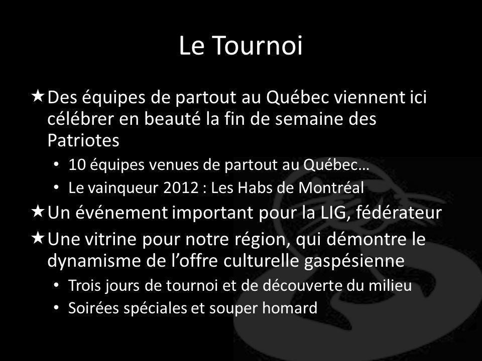 Le Tournoi Des équipes de partout au Québec viennent ici célébrer en beauté la fin de semaine des Patriotes.