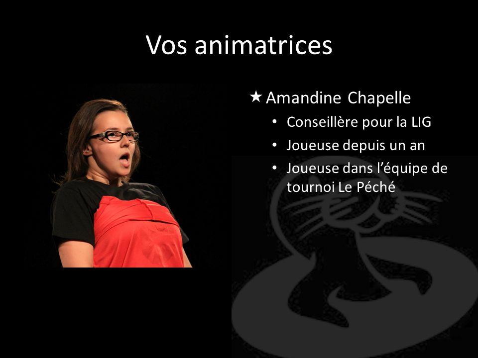 Vos animatrices Amandine Chapelle Conseillère pour la LIG