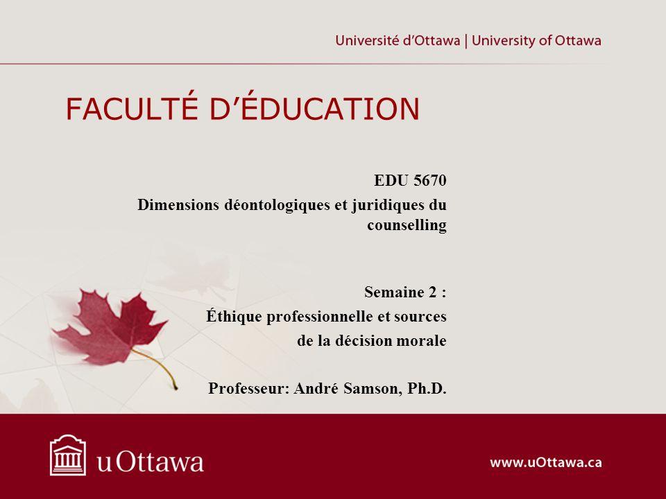 FACULTÉ D'ÉDUCATION EDU 5670