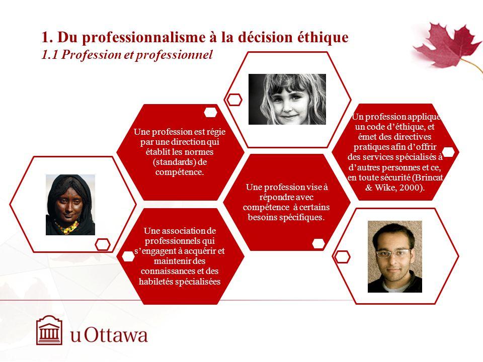 1. Du professionnalisme à la décision éthique 1
