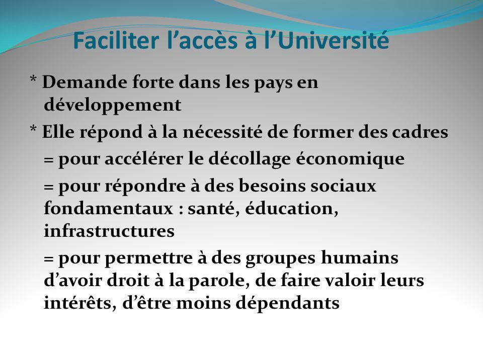 Faciliter l'accès à l'Université