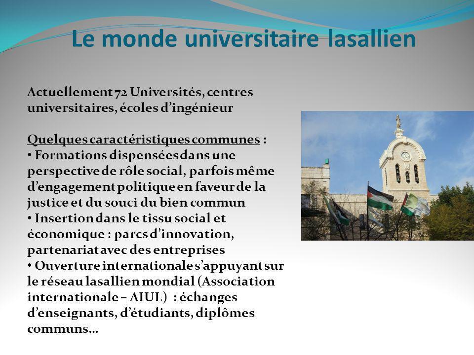 Le monde universitaire lasallien