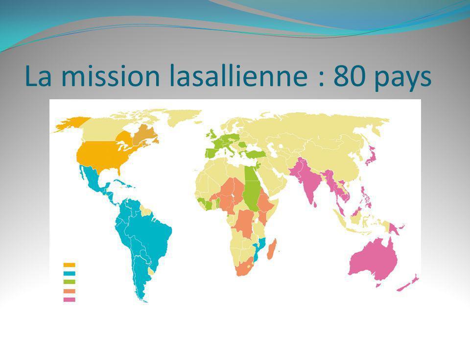 La mission lasallienne : 80 pays