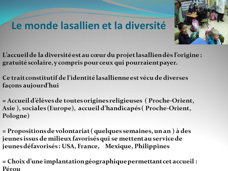 Le monde lasallien et la diversité