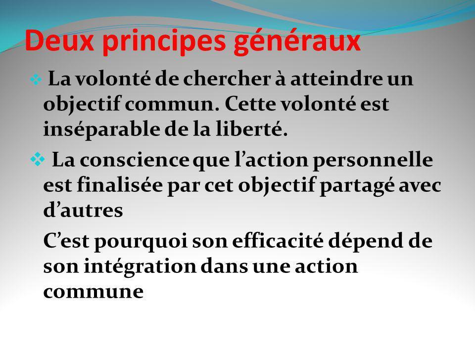 Deux principes généraux