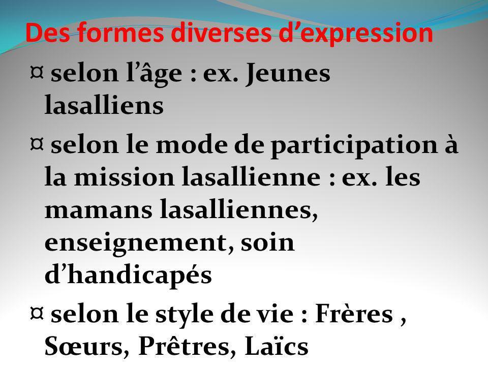 Des formes diverses d'expression