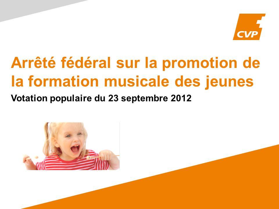 Arrêté fédéral sur la promotion de la formation musicale des jeunes