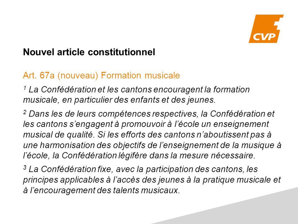 Nouvel article constitutionnel