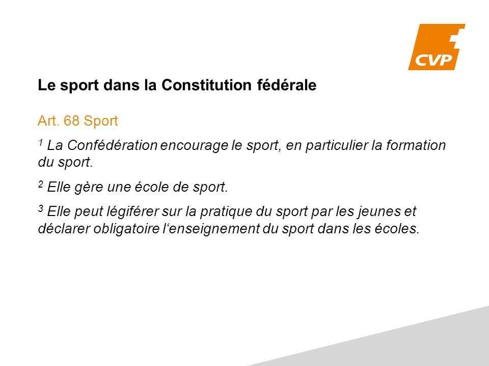 Le sport dans la Constitution fédérale