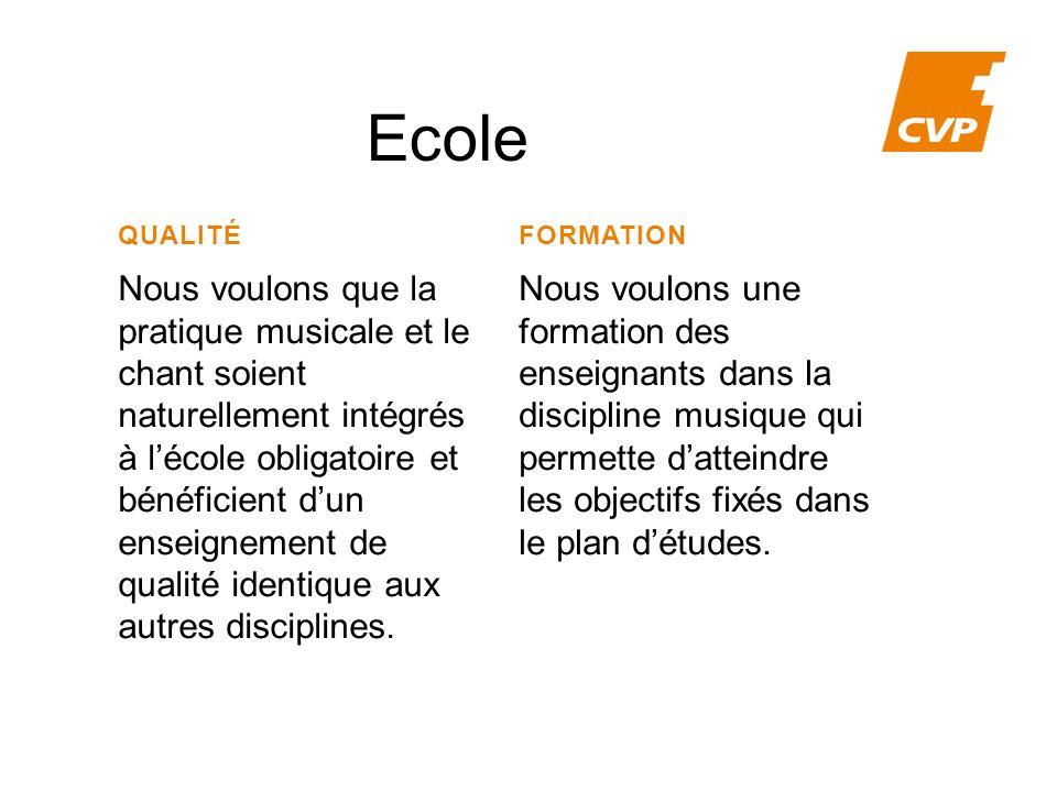 Ecole QUALITÉ. FORMATION.