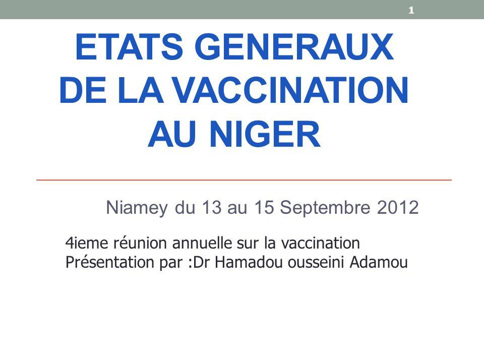 ETATS GENERAUX DE LA VACCINATION AU NIGER