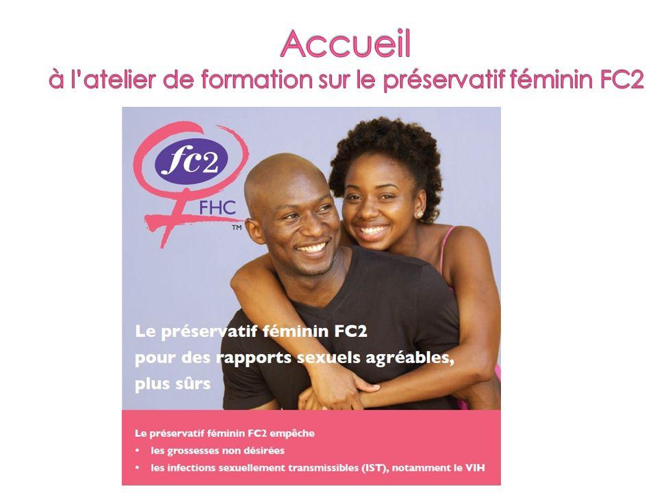 Accueil à l'atelier de formation sur le préservatif féminin FC2