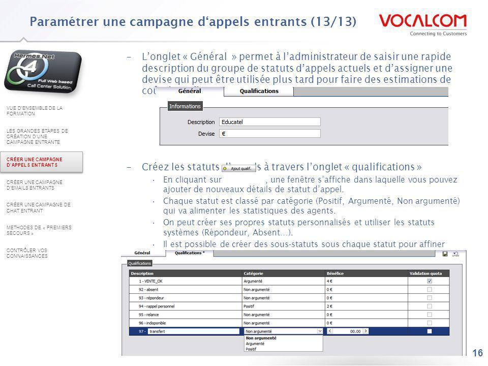 Paramétrer une campagne d'emails entrants (1/13)