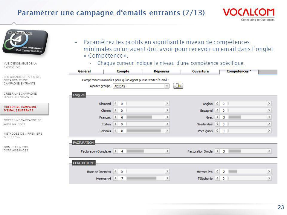 Paramétrer une campagne d'emails entrants (8/13)
