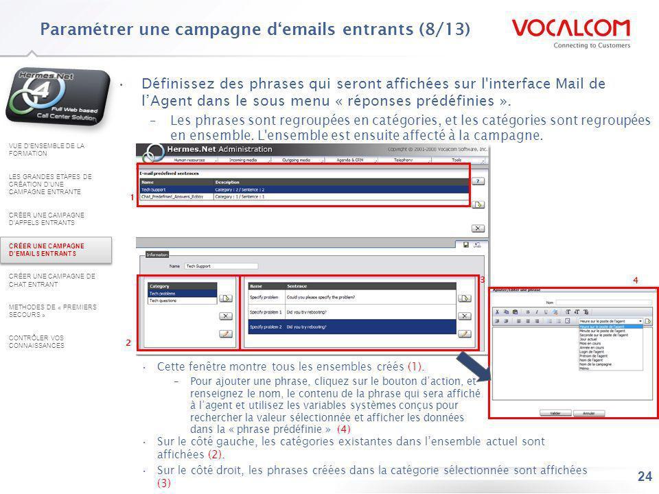 Paramétrer une campagne d'emails entrants (9/13)